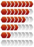 Прогресс, бары загрузки Геометрический шаг, индикаторы участка, метры Стоковые Изображения RF