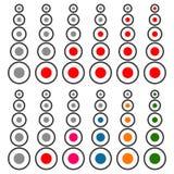 прогресс 5 шагов, комплект ровного индикатора Красная и multicolor версия иллюстрация штока
