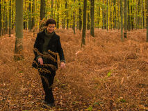 Прогулка в пуще осени Стоковые Изображения RF