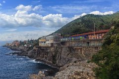 Прогулка в Genova Nervi стоковое фото
