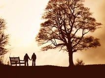 прогулка любовников Стоковая Фотография