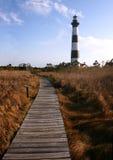 прогулка маяка доски Стоковое фото RF