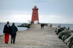 Прогулка маяка Стоковое Фото
