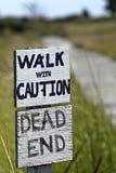 прогулка мертвого конца стоковая фотография