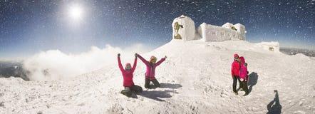 Прогулка на верхней шипучке Иване Chornaya Gora Стоковое Фото