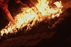 Прогулка огня стоковое фото rf
