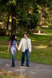 прогулка парка пар Стоковые Изображения RF