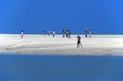 прогулка песка людей Стоковые Изображения