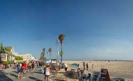 Прогулка пляжа Венеции, прогулка океана, ангелы Лос, Калифорния, США стоковое фото