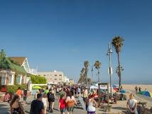 Прогулка пляжа Венеции, прогулка океана, ангелы Лос, Калифорния, США стоковые фото