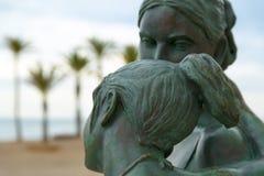 Прогулка пляжа Сан-Хуана, Аликанте, Испании стоковые изображения