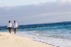 прогулка пляжа Стоковое Фото