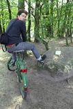 прогулка пущи bike Стоковые Изображения RF