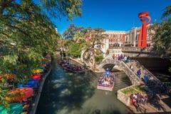 Прогулка реки в Сан Антонио стоковые фото