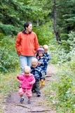 прогулка семьи Стоковые Изображения RF