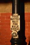 прогулка сигнала Стоковое Фото