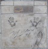 Прогулка славы, Джеф Гордон чемпионов Daytona 500 стоковое изображение