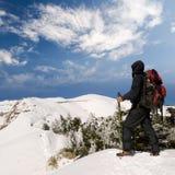 прогулка снежка человека майны Стоковая Фотография