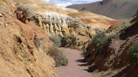 Прогулка через дезертированный каньон видеоматериал
