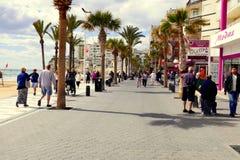 Прогулка Levante, Benidorm, Испания Стоковое Изображение