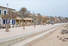 Прогулка Molinar пляжа Стоковая Фотография