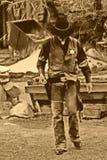 прогулки одного шерифа старые западные Стоковая Фотография