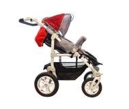 прогулочная коляска красного цвета младенца Стоковая Фотография RF