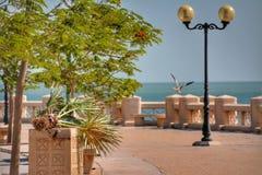 Прогулка берега моря Эльа-Хубар стоковое фото