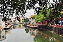 Прогулка берега реки города Малаккы, Малайзия Стоковая Фотография