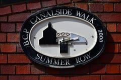 Прогулка Бирмингема Canalside - строка лета Стоковое фото RF