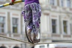 Прогулка веревочки стоковое фото