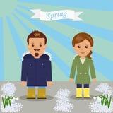 Прогулка весны в парке Стоковая Фотография