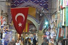 Прогулка в базар Стамбула Стоковое Изображение