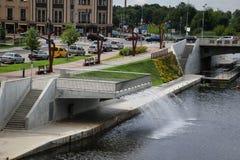 Прогулка в городе Jelgava, Латвии Стоковое фото RF