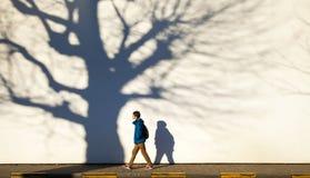 Прогулка городка зимы Стоковое Изображение RF