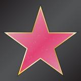 Прогулка звезды славы с эмблемами символизирует 5 категорий Голливуд, известный тротуар, актер бульвара также вектор иллюстрации  Стоковое фото RF