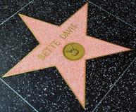 Прогулка звезды славы ` Davis Bette ` Рут Элизабета Стоковые Изображения RF