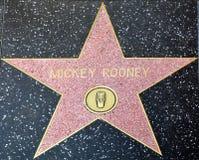 Прогулка звезды славы Mickey Rooney Стоковая Фотография RF
