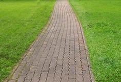 прогулка камня путя блока Стоковая Фотография RF