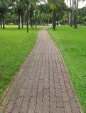 прогулка камня путя блока Стоковые Фото