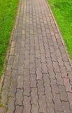 прогулка камня путя блока Стоковая Фотография
