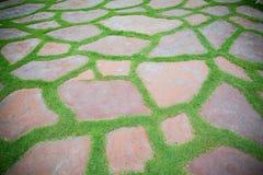 прогулка камня путя парка блока Стоковые Изображения RF