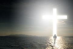 Прогулка к кресту Стоковые Изображения RF