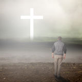 Прогулка к кресту Стоковая Фотография RF