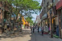Прогулка Монреаля Чайна-тауна Стоковые Изображения