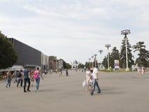 Прогулка Москвы и людей на ENEA Стоковое фото RF