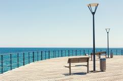Прогулка набережной Лимасола Кипр стоковое изображение rf