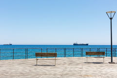 Прогулка набережной Лимасола Кипр стоковое фото rf