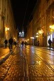 Прогулка на ноче Львове Стоковая Фотография
