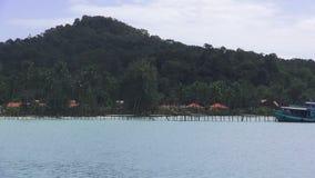Прогулка на яхте к тропическим островам, Таиланду акции видеоматериалы